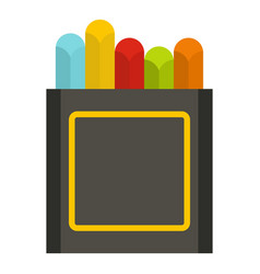 Crayons icon isolated vector