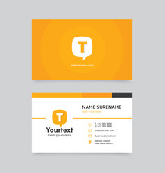 creative business card with communication symbol vector image