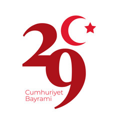 Cumhuriyet bayrami celebration day with crescent vector