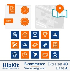 E-commerce web design elements extra set 3 vector image