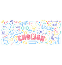 english language learning concept vector image