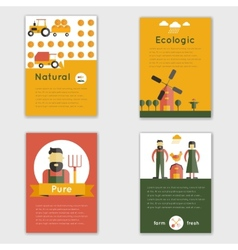 Farm Fresh Brochure vector