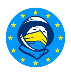 Fighting for joining EU sign vector image