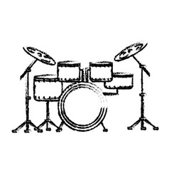 Figure drums musical instrument to play music vector