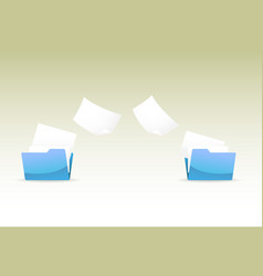 File transfer vector image