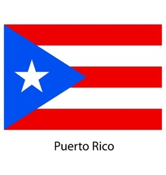 Flag of the country puerto rico vector