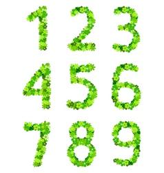 floral number vector image