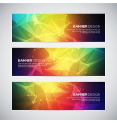 Geometric lowpoly abstract modern banners vector