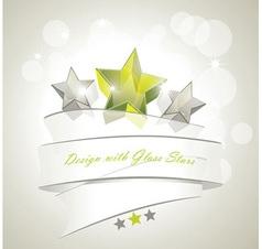 glass stars vector image