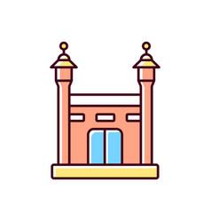 hajj rgb color icon vector image