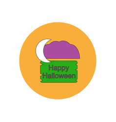 In flat design happy halloween vector