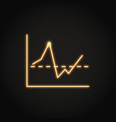 invest report graph icon in neon line style vector image