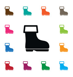 Isolated wellies icon shoes element can be vector