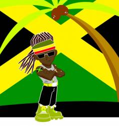 Jamaican gangster vector image