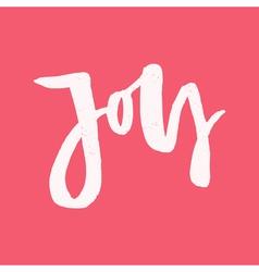 Joy - Modern Lettering vector