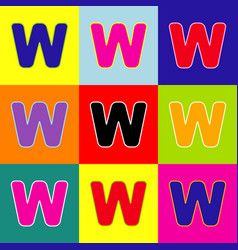 letter w sign design template element pop vector image