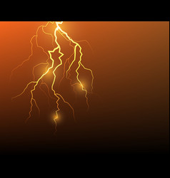 Lightning flash strike background vector