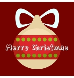 Merry Christmas greeting card Holiday decorations vector