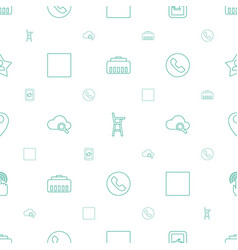 Mobile icons pattern seamless white background vector