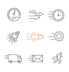 motion linear icons set vector image