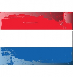 Netherlands national flag vector image vector image