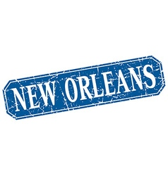 New Orleans blue square grunge retro style sign vector