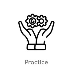 Outline practice icon isolated black simple line vector