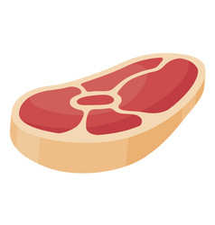 piece meat icon fresh red piece vector image