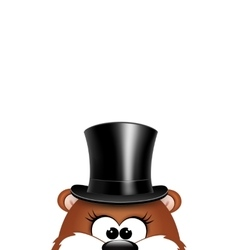 Postcard to Groundhog DayMarmot on a white vector image