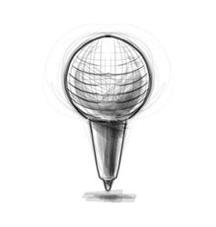 Retro classic microphone vector