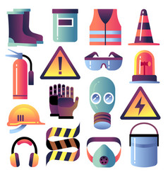 Safety equipment personal protection vector
