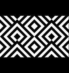 seamless pattern black and white diagonal lines vector image