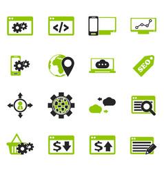 Seo and development icons set vector