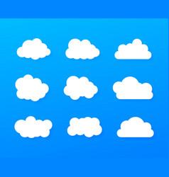 set blue sky clouds cloud icon cloud shape set vector image
