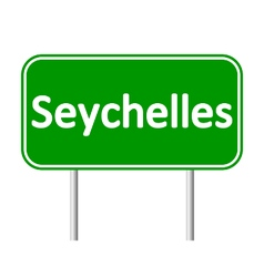 Seychelles road sign vector