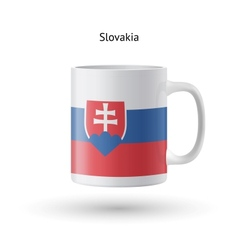 Slovakia flag souvenir mug on white background vector