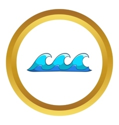 Small waves icon vector image