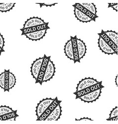 Sold out seal stamp seamless pattern background vector
