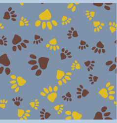 stylized paw seamless background vector image