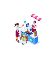 supermarket buy concept goods vector image