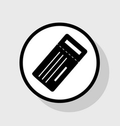 ticket simple sign flat black icon in vector image