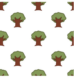 tree seamless pattern nature forest oak wallpaper vector image