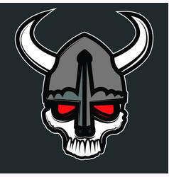 viking comic skull vector image
