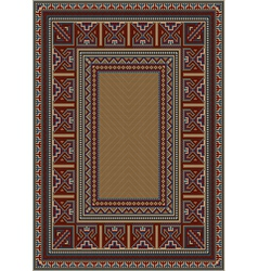 Vintage carpet with ethnic pattern vector