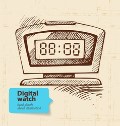 Vintage digital watch vector image