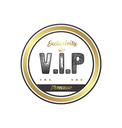 Vip member badge vector