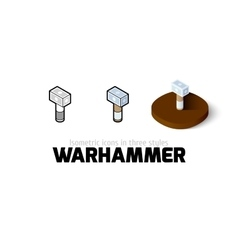 Warhammer icon in different style vector image