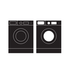 washing machine icon washing machine flat sign vector image