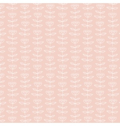 White flower pattern on pink background vector