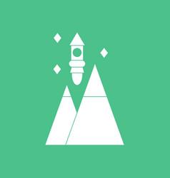 Icon rocket and pyramids vector